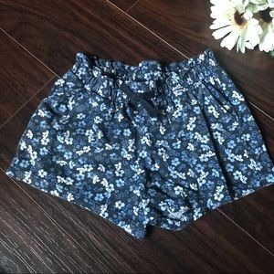 H&M Baby Shorts Blue Floral 2-4Y